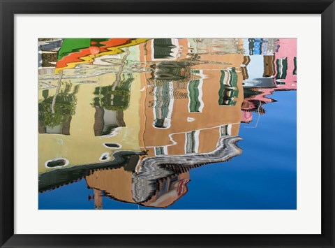 Framed Canal Reflection Print