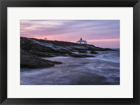 Framed Dawn at Beavertail Point Print