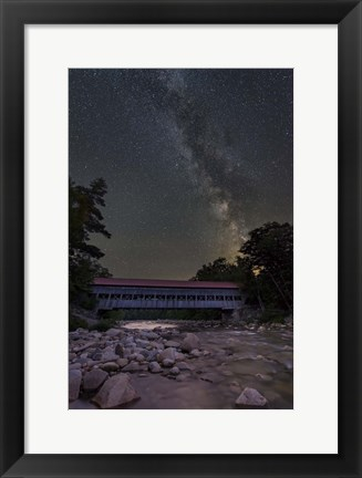 Framed Night on the Swift River Print