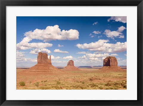 Framed Three Buttes Print
