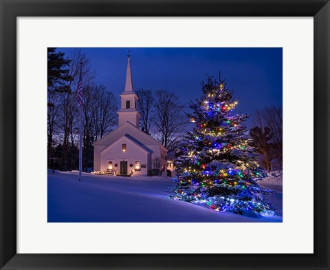 Framed New England Christmas Print
