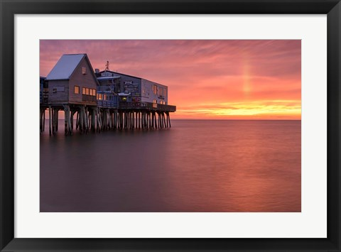 Framed Crimson Pier Print