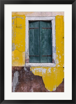 Framed Green Window Print