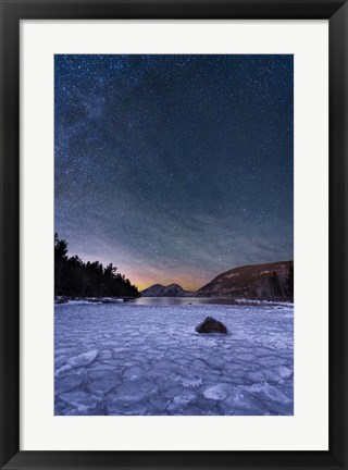 Framed Stars On Ice Print