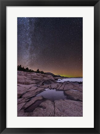 Framed Granite Coast Print