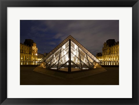 Framed Louvre Pyramid Stack Print
