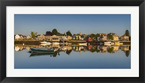 Framed South Portsmouth Reflection Print