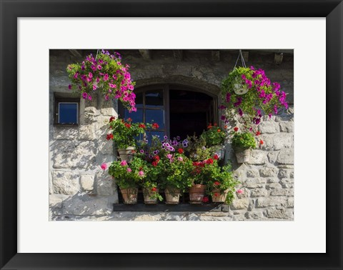 Framed Window Dressing Print