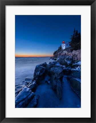 Framed Bass Harbor Blues - Vertical Print