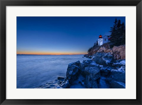 Framed Bass Harbor Blues Print