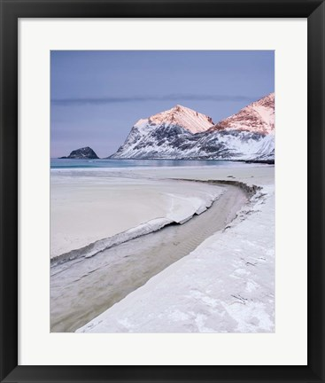 Framed Sand Channel - Vertical Print