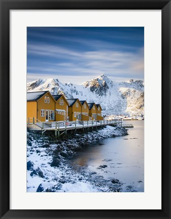 Framed Yellow Cabins - Vertical Print