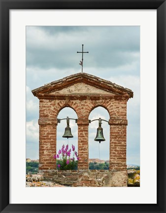Framed Belfry at Montisi Print