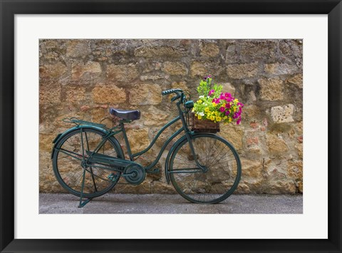 Framed Green Bicycle Print