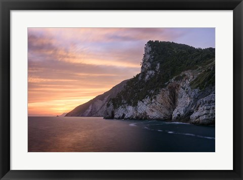 Framed Ligurian Sunset Print