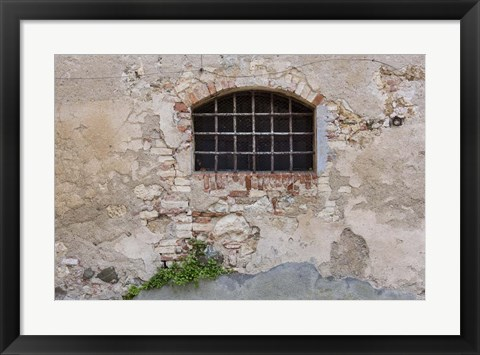 Framed Monticchiello Window #1 Print