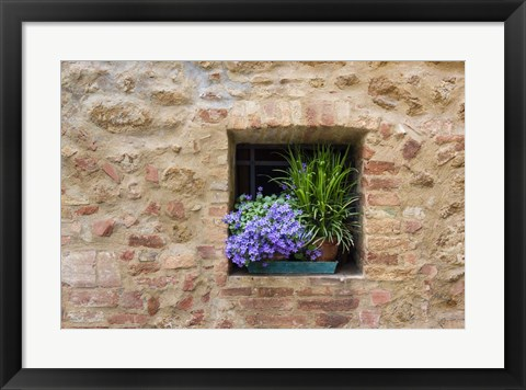 Framed Pienza Window Print