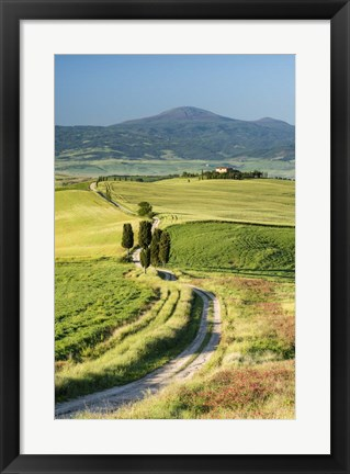 Framed Road to Terrapille - Vertical Print