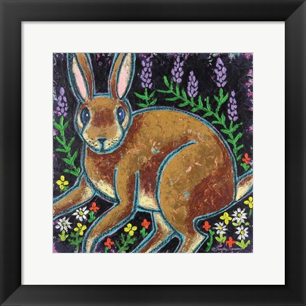 Framed Bunny Surprise Print