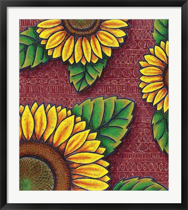 Framed Uncle Jake's Sunflowers Print