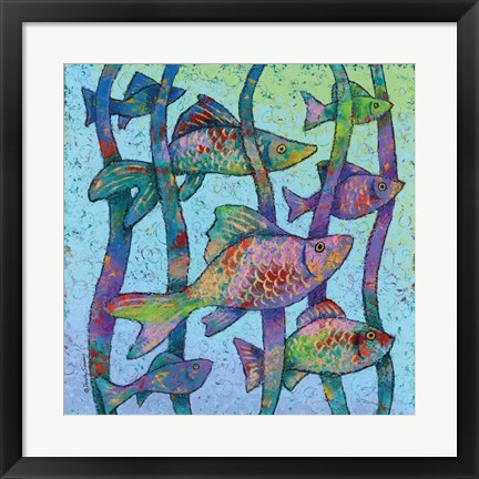 Framed Swim with the Fishes Print