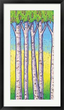 Framed Birches - Spring Print