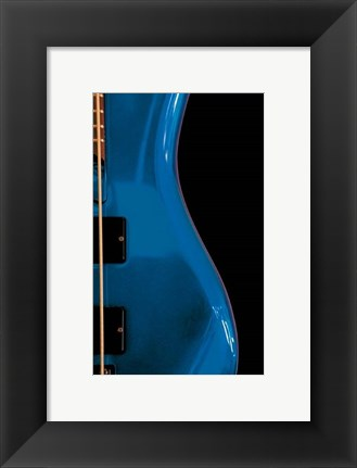 Framed Electric Blue Print