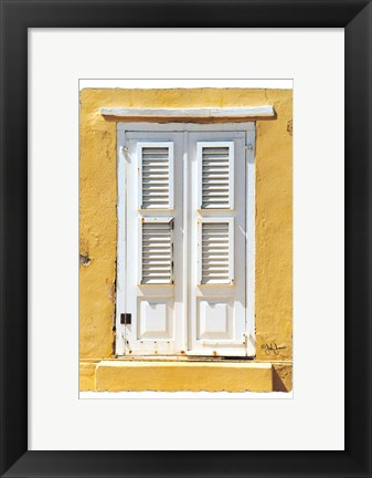 Framed Beach House Shutters Print