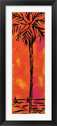 Framed Orange Palm Print