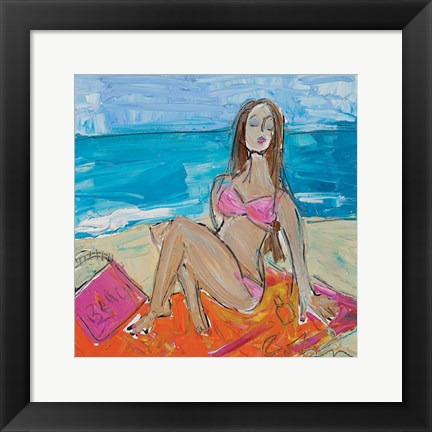 Framed Beach Girl Print