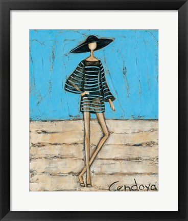 Framed Beach Babe Print