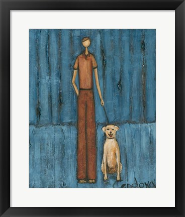 Framed Man's Best Friend Print