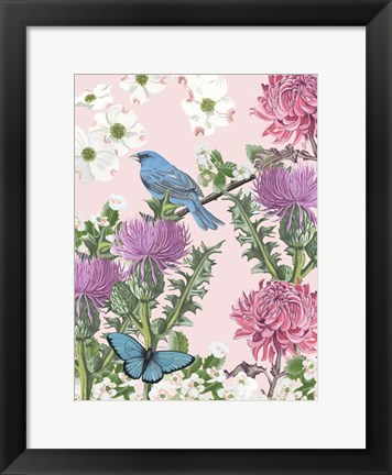 Framed Bird Garden IV Print