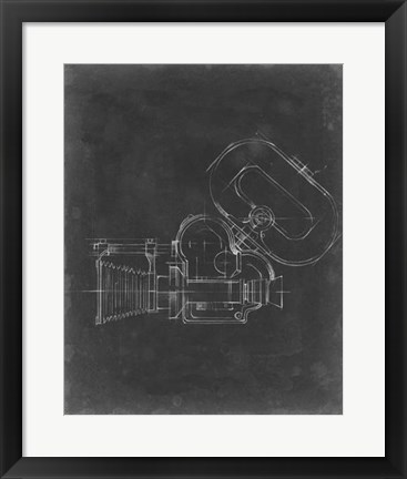Framed Camera Blueprint V Print