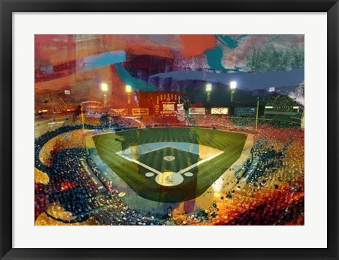Framed Sox Stadium, Chicago Print