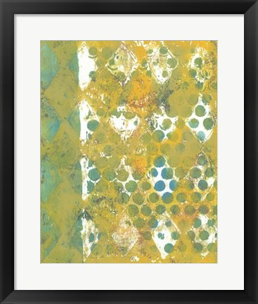 Framed Harlequin Abstract I Print