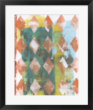 Framed Harlequin Abstract III Print