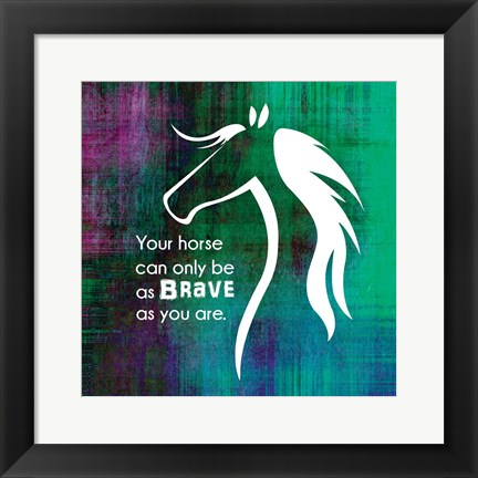Framed Horse Quote 1 Print