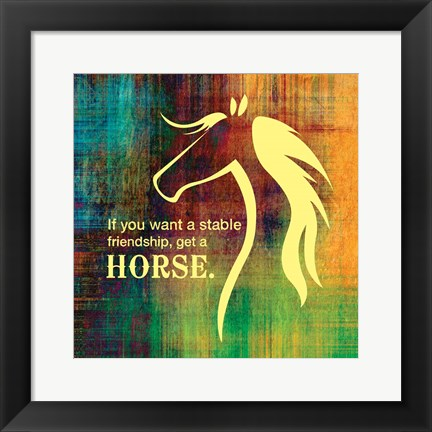 Framed Horse Quote 2 Print