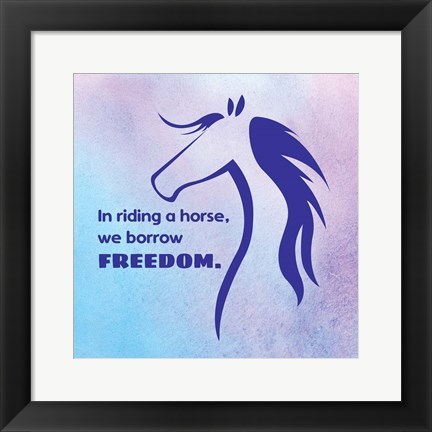 Framed Horse Quote 3 Print