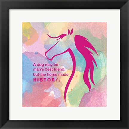 Framed Horse Quote 4 Print