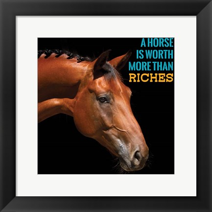 Framed Horse Quote 6 Print