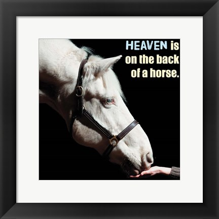 Framed Horse Quote 9 Print