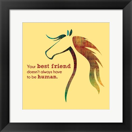 Framed Horse Quote 10 Print