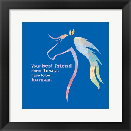 Framed Horse Quote 11 Print