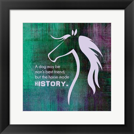 Framed Horse Quote 13 Print