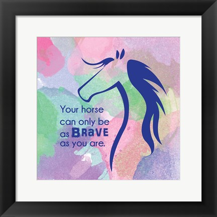 Framed Horse Quote 14 Print