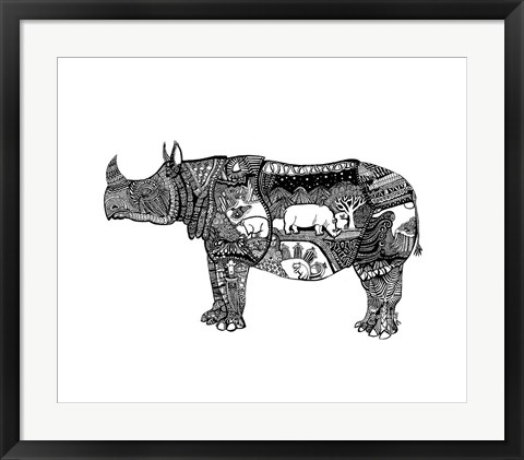 Framed Goodbye Rhino Print