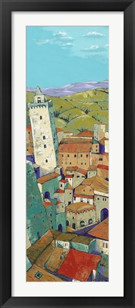 Framed Rooftops of San Gimignano Print