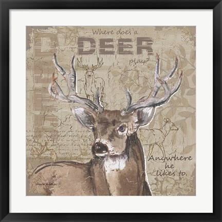 Framed Where Does a Deer Play Print